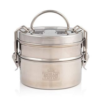 2 Tier Indian Tiffin Stainless Steel Lunch Box