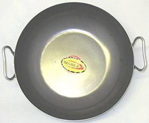Black Iron Karahi 15cm (6″) With Stainless Steel Handle