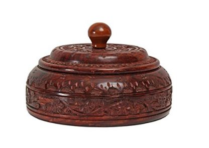 Rosewood Indian Spice Box - Side Profile