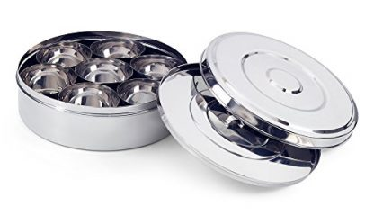 Stainless Steel Spice Box - Lid Ajar