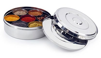 Stainless Steel Spice Box - With Spices