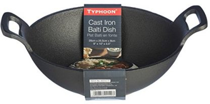 Typhoon Cast Iron Karahi with Large Handles - Side
