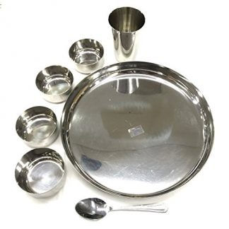 Stainless Steel Thali Set 7 piece